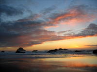 Sunset at Bandon Beach, OR